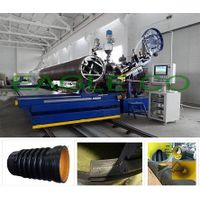 HDPE /PP profiled pipes extruder machine