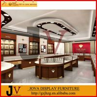 Luxurious jewelry shop interior design with display furniture thumbnail image