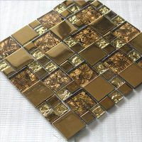 stainless steel mosaic tile gold color thumbnail image