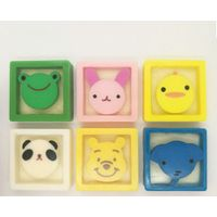 Kids square shape animal cartoon handmade soap customize children soap for whole body