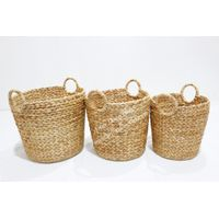 Best selling water hyacinth storage baskets for home furniture-SD1502A-3NA