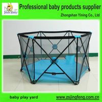 2015 New Factory Supply One Hand Foldable Baby Playpens