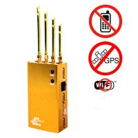 Powerful Golden Portable Cell phone & Wi-Fi & GPS Jammer thumbnail image