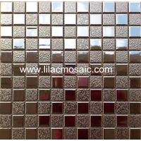Silver Ceramic Mosaic Tile For Lobby Restaurant Wall Decoration thumbnail image