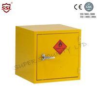 Mini Stainless Steel Hazardous Storage Cabinet Single Door with 1 Shelf Bench Top Cabinet
