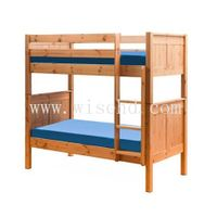W-B-0083 solid wood adult double bed