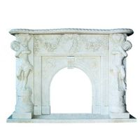 marble fireplace,flower carved firepalce,statue carved fireplace thumbnail image