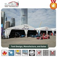 Aluminum marquee with white PVC panels for outside sports event tent manufacture