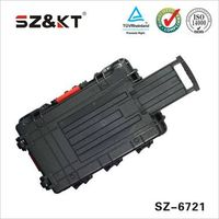 Hard plastic transport trolley tool case