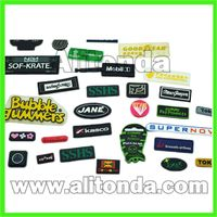 Custom high quality soft pvc silicone badges for clothing apparel bags thumbnail image