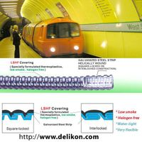 electric flexible conduits for cable management on subway systems thumbnail image