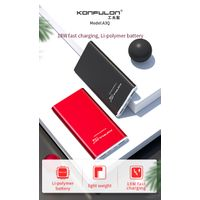 Konfulon High Speed 3.0 A Power bank Portable Charger 10000mAh Aluminum Shell USB Portable Charger