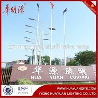 outdoor tapered stainless steel flag pole
