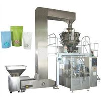 Automatic beans nuts almonds ready bag given rotary packing machine