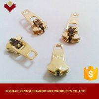 Sell foshan metal double lock zip sliders