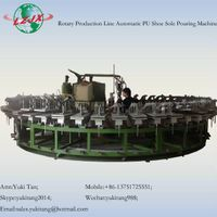 PU Shoes Foaming Machine With Rotary Production Line