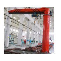 Column swing jib crane
