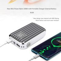 New Stylish dual usb port power banks charger 10000mah