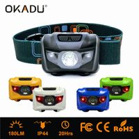OKADU HL03 Long Runtime Headlamp CREE LED Headlamp Two Colors LED Mini Headlamp