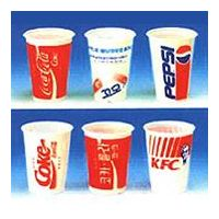 Disposable cups on plastic thumbnail image