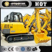 Widely used XCMG XE60CA 6 ton new mini excavator prices