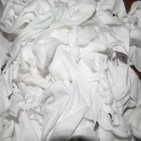 100% Cotton WHITE knit clips / rags
