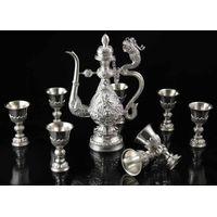 Myshine fashion blessing sterling silver 990 dragon wine set