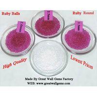 ruby ball, ruby round, corundum ball, corundum round, cubic zirconia,CZ thumbnail image