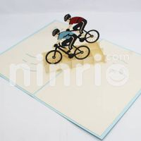 Cyclist Pop Up Card Handmade Greeting Card