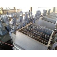 Multi-disc sludge dewatering screw press for beverage plant wasterwater
