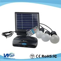 mini solar home lighting system 3w led solr lights with mobile charger thumbnail image