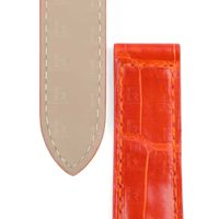 Handmade Orange Leather Watch Band Single Folded fit for Pasha de Cartier thumbnail image