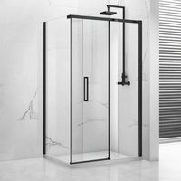 Rectangular shape 6/8/10mm thickness glass shower enclosure with black frame