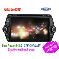 "8""pure android4.0 car dvd for kia with gps audio AM/fm Capacitive touch screen1080P HW BT 1G Bytes D"
