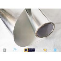 Sliver Non Breath Aluminium Foil Laminated Fiberglass Fabric