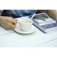 OEM custom design ceramic coffee cup and saucer