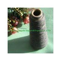 100% dark gray cashmere yarn