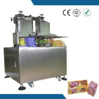 Semi auto stainless steel overlap box sealing machine