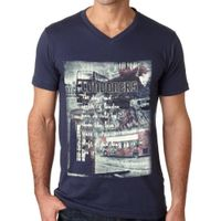 Men's Printed V Neck T-Shirt