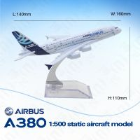 16cm Zinic Alloy Large Scale Plane Model 1: 500 380 Airplane Model for Gifts
