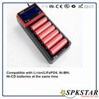 2016 New design 6slot intelligent 18650 li-ion battery charger,rechargeable battery charger thumbnail image