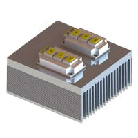 Tower-shape combined extrusion aluminum profile heat sink