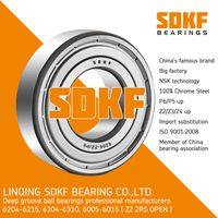 SDKF 6305-2RS-ZZ Metal Shielded Seal Deep Groove Ball Bearing 25x62x17mm