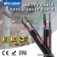 RG-59 Siamese Coax Cable for CCTV Camera Installation