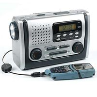 BC-600 4-way Powered Dynamo Crank, Wind Up Emergency FM Alert Radio with Flashlight,Reading