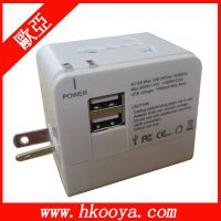 World Travel Adapter With DUAL USB Charger (TA-102)