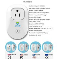 Intelligent socket 3-way plug /socket Smart Socket Power Plug Wifi