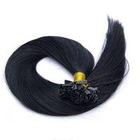 Vari Colored 100% Brazilian Human Hair Flat Tip Hair Extensions