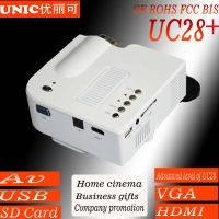 Cheapest pico projector,entertainment projector UC28+ with AV USB SD VGA HDMI