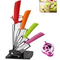 5 pcs ceramic knife set with colorful handle